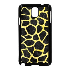 Skin1 Black Marble & Yellow Watercolor Samsung Galaxy Note 3 Neo Hardshell Case (black)