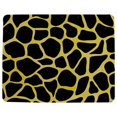 Skin1 Black Marble & Yellow Watercolor Jigsaw Puzzle Photo Stand (rectangular)