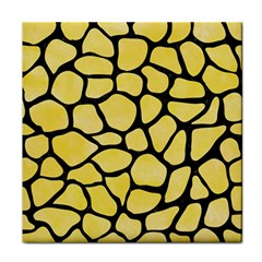 Skin1 Black Marble & Yellow Watercolor (r) Tile Coasters