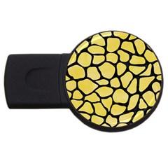 Skin1 Black Marble & Yellow Watercolor (r) Usb Flash Drive Round (4 Gb)