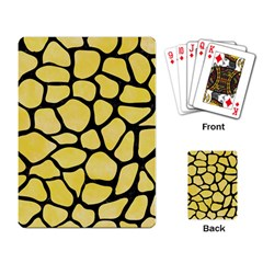 Skin1 Black Marble & Yellow Watercolor (r) Playing Card