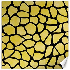 Skin1 Black Marble & Yellow Watercolor (r) Canvas 16  X 16