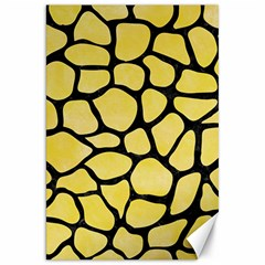 Skin1 Black Marble & Yellow Watercolor (r) Canvas 20  X 30
