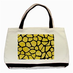 Skin1 Black Marble & Yellow Watercolor (r) Basic Tote Bag (two Sides)