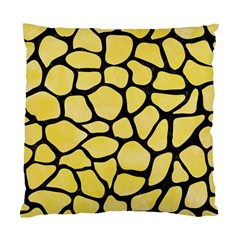 Skin1 Black Marble & Yellow Watercolor (r) Standard Cushion Case (two Sides)