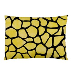 Skin1 Black Marble & Yellow Watercolor (r) Pillow Case