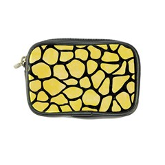 Skin1 Black Marble & Yellow Watercolor (r) Coin Purse