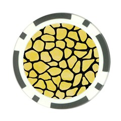 Skin1 Black Marble & Yellow Watercolor (r) Poker Chip Card Guard (10 Pack)