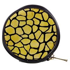 Skin1 Black Marble & Yellow Watercolor (r) Mini Makeup Bags