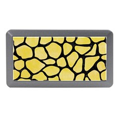 Skin1 Black Marble & Yellow Watercolor (r) Memory Card Reader (mini)