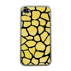 Skin1 Black Marble & Yellow Watercolor (r) Apple Iphone 4 Case (clear)