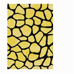 Skin1 Black Marble & Yellow Watercolor (r) Large Garden Flag (two Sides)