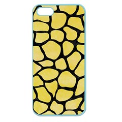 Skin1 Black Marble & Yellow Watercolor (r) Apple Seamless Iphone 5 Case (color)