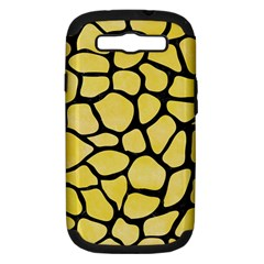 Skin1 Black Marble & Yellow Watercolor (r) Samsung Galaxy S Iii Hardshell Case (pc+silicone)