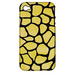 Skin1 Black Marble & Yellow Watercolor (r) Apple Iphone 4/4s Hardshell Case (pc+silicone)