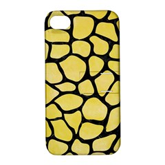 Skin1 Black Marble & Yellow Watercolor (r) Apple Iphone 4/4s Hardshell Case With Stand