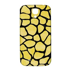 Skin1 Black Marble & Yellow Watercolor (r) Samsung Galaxy S4 I9500/i9505  Hardshell Back Case