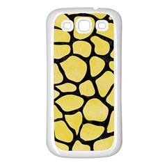 Skin1 Black Marble & Yellow Watercolor (r) Samsung Galaxy S3 Back Case (white)