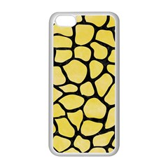 Skin1 Black Marble & Yellow Watercolor (r) Apple Iphone 5c Seamless Case (white)