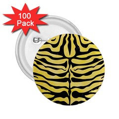 Skin2 Black Marble & Yellow Watercolor 2 25  Buttons (100 Pack)