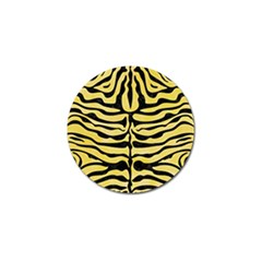 Skin2 Black Marble & Yellow Watercolor Golf Ball Marker (4 Pack)