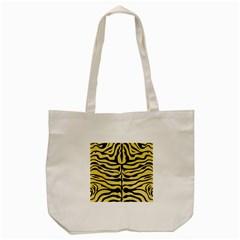 Skin2 Black Marble & Yellow Watercolor Tote Bag (cream)