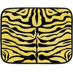 Skin2 Black Marble & Yellow Watercolor Double Sided Fleece Blanket (mini)