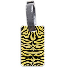 Skin2 Black Marble & Yellow Watercolor Luggage Tags (two Sides)