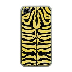 Skin2 Black Marble & Yellow Watercolor Apple Iphone 4 Case (clear)