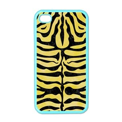 Skin2 Black Marble & Yellow Watercolor Apple Iphone 4 Case (color)