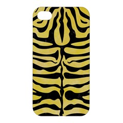 Skin2 Black Marble & Yellow Watercolor Apple Iphone 4/4s Hardshell Case