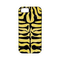Skin2 Black Marble & Yellow Watercolor Apple Iphone 5 Classic Hardshell Case (pc+silicone)