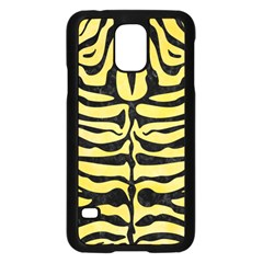 Skin2 Black Marble & Yellow Watercolor Samsung Galaxy S5 Case (black)