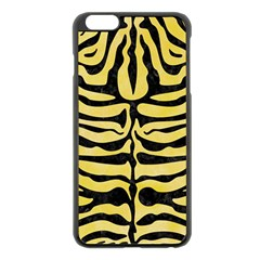 Skin2 Black Marble & Yellow Watercolor Apple Iphone 6 Plus/6s Plus Black Enamel Case
