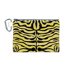Skin2 Black Marble & Yellow Watercolor Canvas Cosmetic Bag (m)