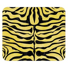 Skin2 Black Marble & Yellow Watercolor Double Sided Flano Blanket (small)