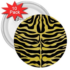 Skin2 Black Marble & Yellow Watercolor (r) 3  Buttons (10 Pack)