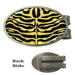 Skin2 Black Marble & Yellow Watercolor (r) Money Clips (oval)
