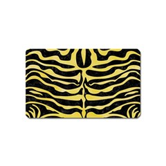 Skin2 Black Marble & Yellow Watercolor (r) Magnet (name Card)