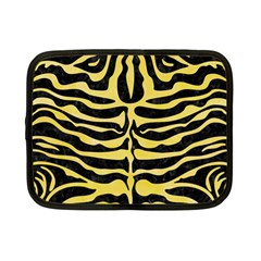 Skin2 Black Marble & Yellow Watercolor (r) Netbook Case (small)