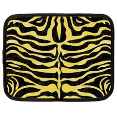 Skin2 Black Marble & Yellow Watercolor (r) Netbook Case (large)