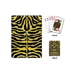 Skin2 Black Marble & Yellow Watercolor (r) Playing Cards (mini)