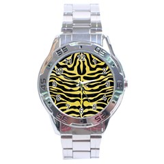 Skin2 Black Marble & Yellow Watercolor (r) Stainless Steel Analogue Watch