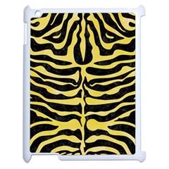 Skin2 Black Marble & Yellow Watercolor (r) Apple Ipad 2 Case (white)