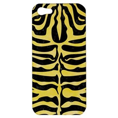 Skin2 Black Marble & Yellow Watercolor (r) Apple Iphone 5 Hardshell Case