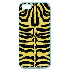Skin2 Black Marble & Yellow Watercolor (r) Apple Seamless Iphone 5 Case (color)