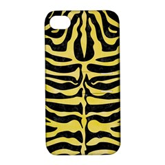 Skin2 Black Marble & Yellow Watercolor (r) Apple Iphone 4/4s Hardshell Case With Stand
