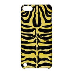 Skin2 Black Marble & Yellow Watercolor (r) Apple Ipod Touch 5 Hardshell Case With Stand