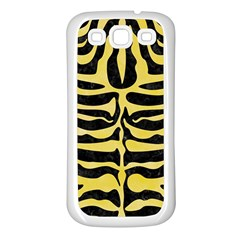Skin2 Black Marble & Yellow Watercolor (r) Samsung Galaxy S3 Back Case (white)