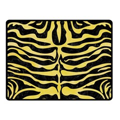 Skin2 Black Marble & Yellow Watercolor (r) Double Sided Fleece Blanket (small)